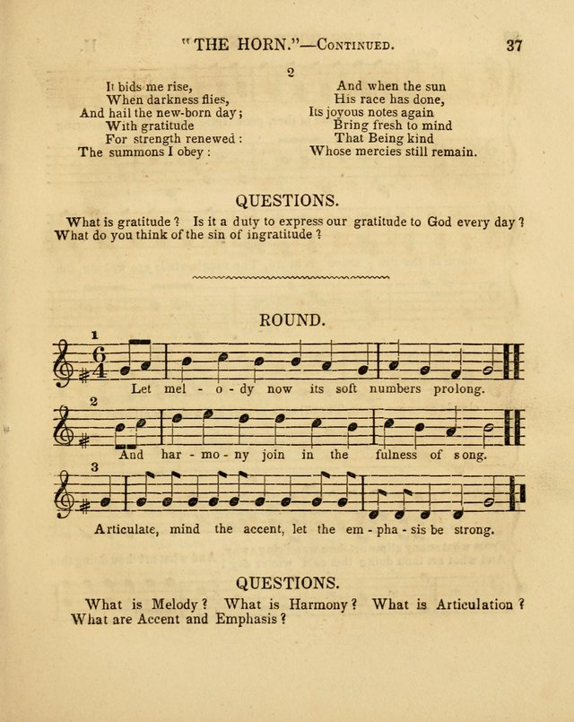 Juvenile Songs: religious, moral and sentimental, with brief exercises, adapted to the purposes of primary instruction page 37
