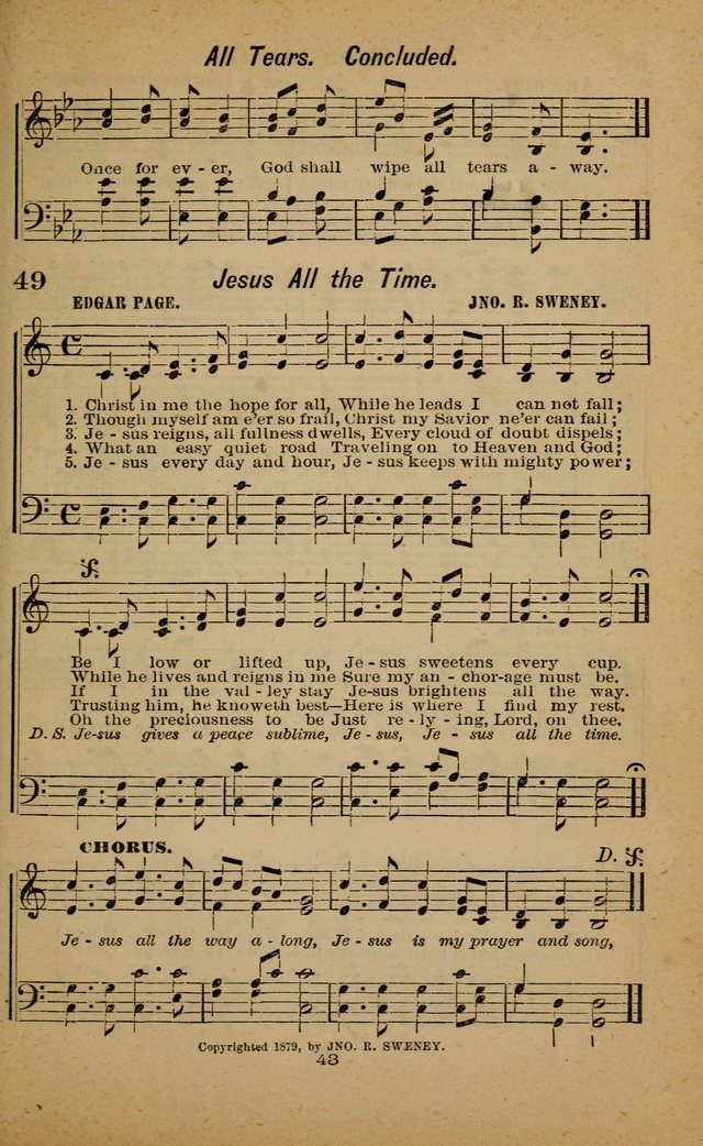 Joy to the World: or, sacred songs for gospel meetings page 43