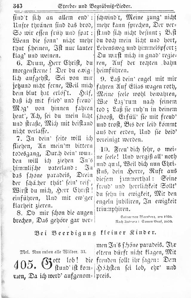 Kirchen-Gesangbuch: f�r Evangelisch-Lutherische Gemeinden 404 ...