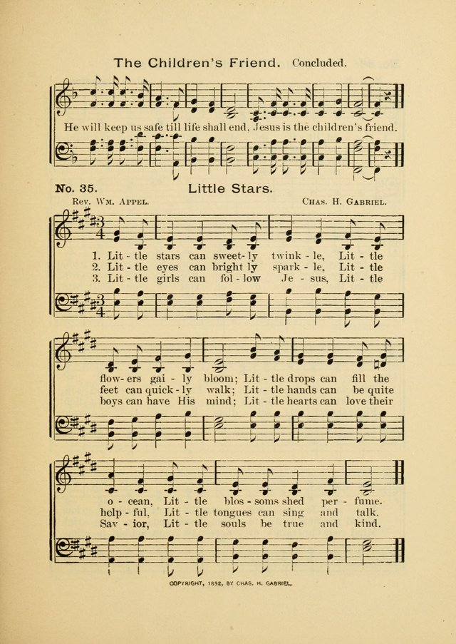 Little Branches: a collection of songs prepared especially for the primary and infant departments of the sunday school page 37