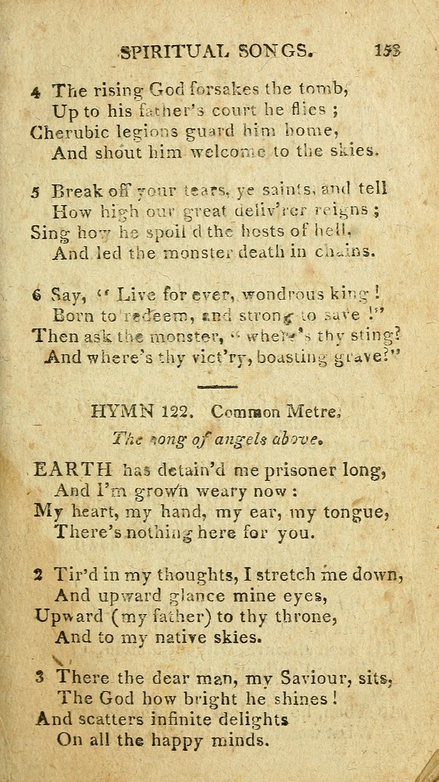 The Lexington Collection: being a selection of hymns, and spiritual songs, from the best authors (3rd. ed., corr.) page 153
