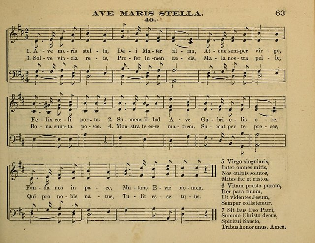Laudis Corona: the new Sunday school hymn book, containing a collection of Catholic hymns, arranged for the principal seasons and festivals of the year page 63
