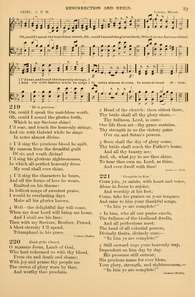Laudes Domini: a selection of spiritual songs ancient & modern (Abr. ed.) page 87