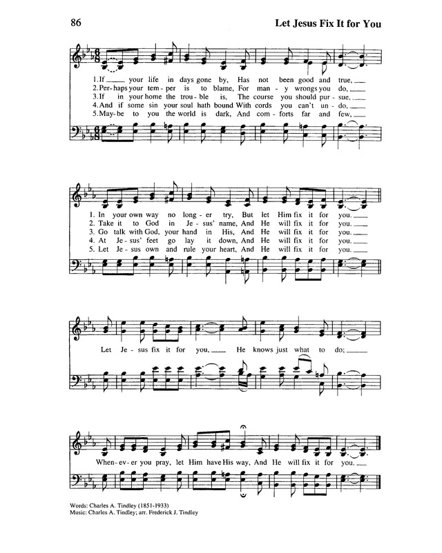 Lift Every Voice and Sing II: an African American hymnal page 107
