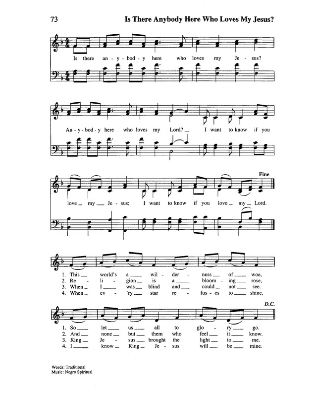 Is There Anybody Here? | Hymnary.org