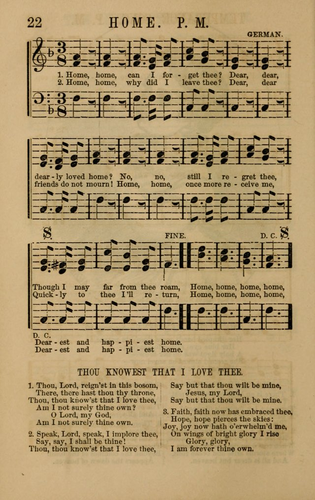Linden Harp: a rare collection of popular melodies adapted to sacred and moral songs, original and selected. Illustrated. Also a manual of... page 22