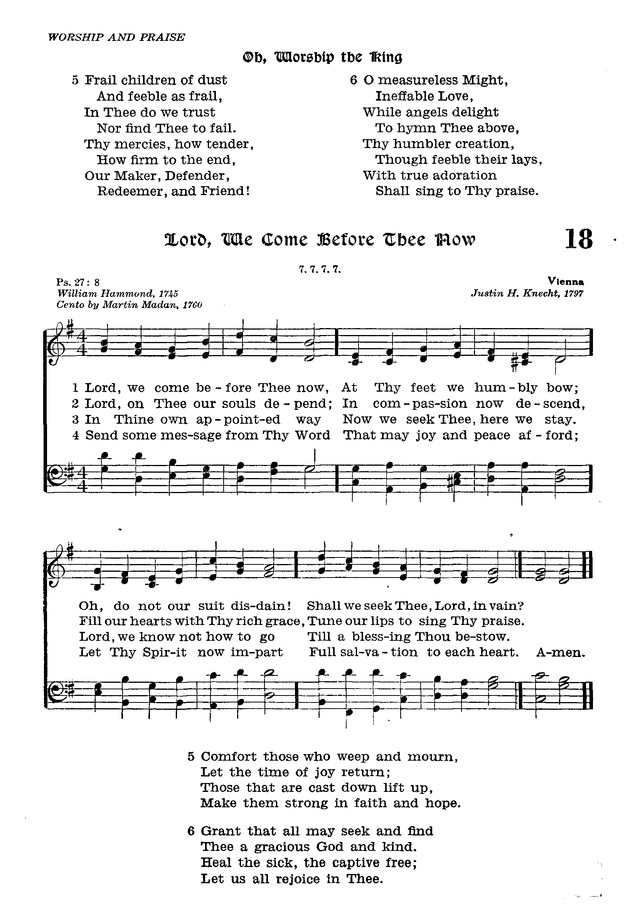 The Lutheran Hymnal 17  Oh, worship the King | Hymnary org