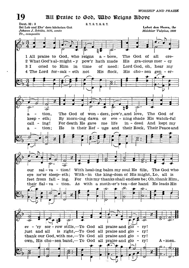 The Lutheran Hymnal page 190