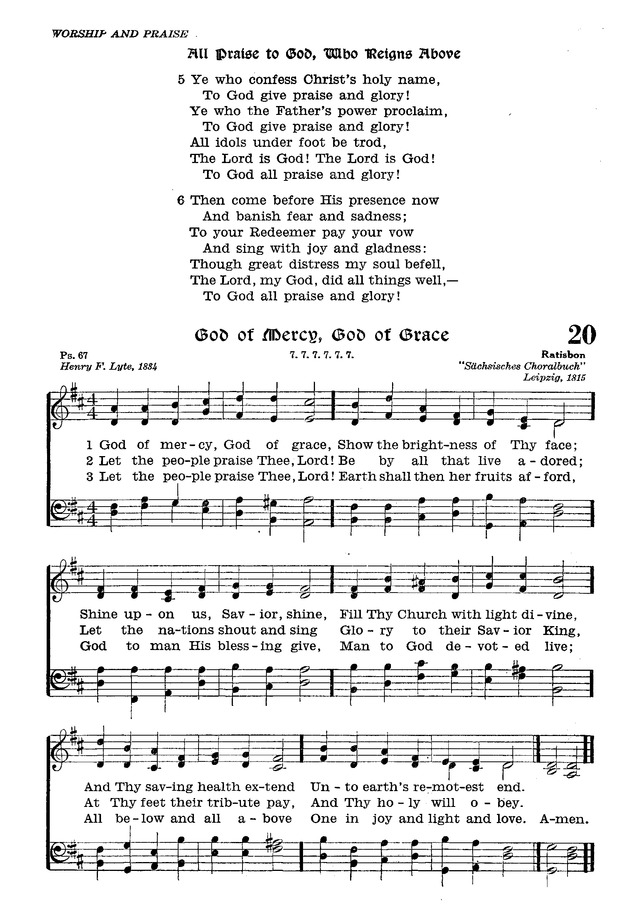 The Lutheran Hymnal page 191