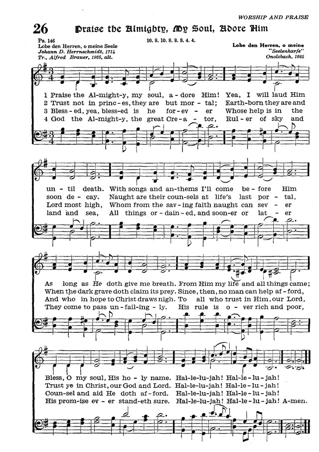 The Lutheran Hymnal page 198
