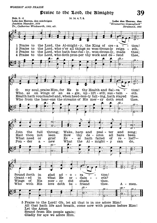 The Lutheran Hymnal page 211