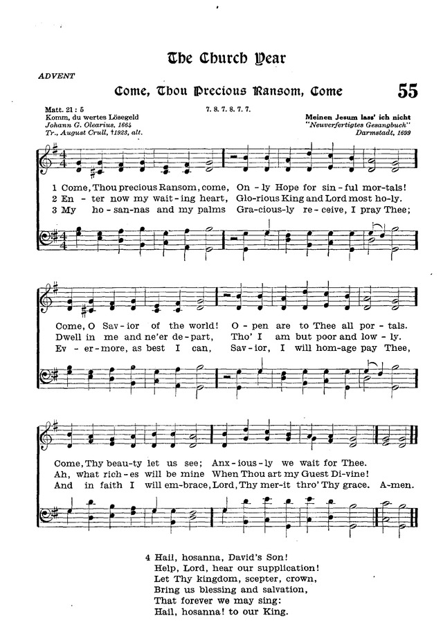 The Lutheran Hymnal page 227
