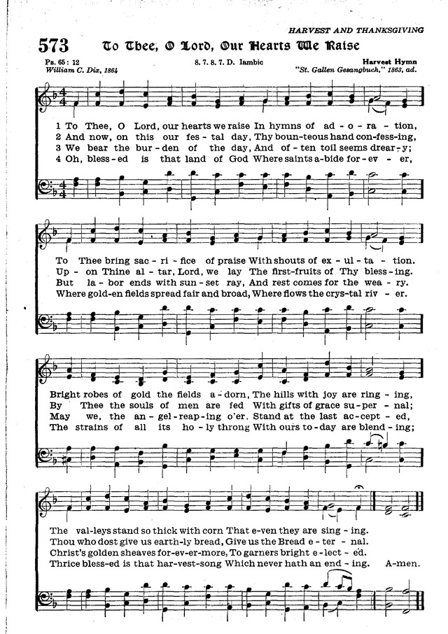 Suggested free-use hymns about harvest / fruits of the earth