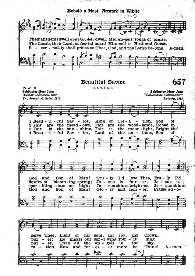 The Lutheran Hymnal 657 Beautiful Savior King Of Creation