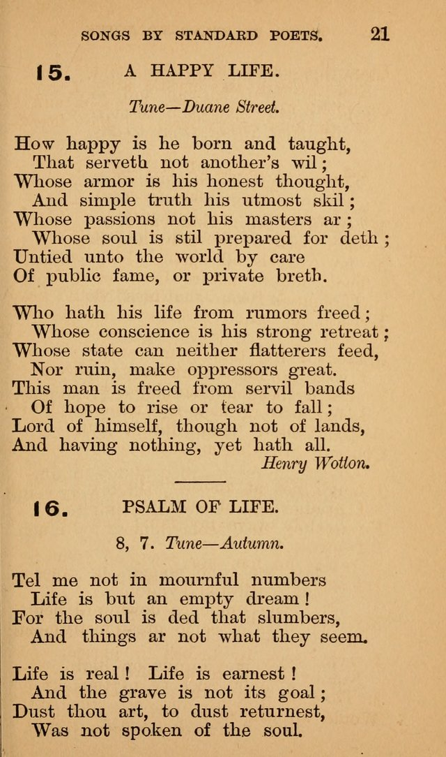 The Liberal Hymn Book: a collection of liberal songs adapted to popular tunes. For use in liberal leagues and other meetings, and in liberal homes page 21