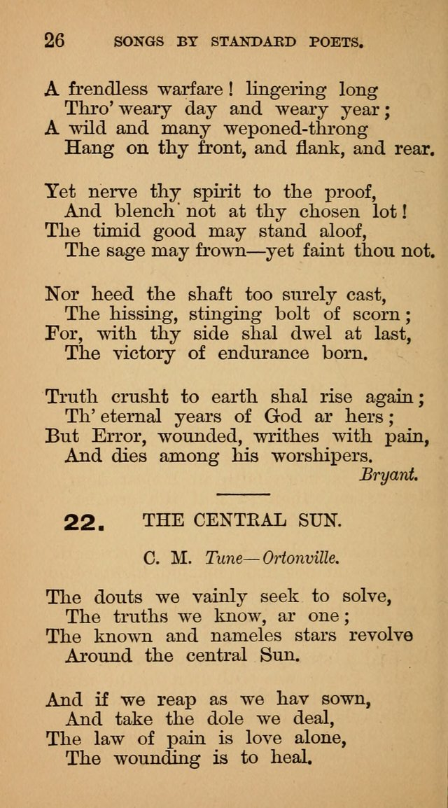 The Liberal Hymn Book: a collection of liberal songs adapted to popular tunes. For use in liberal leagues and other meetings, and in liberal homes page 26