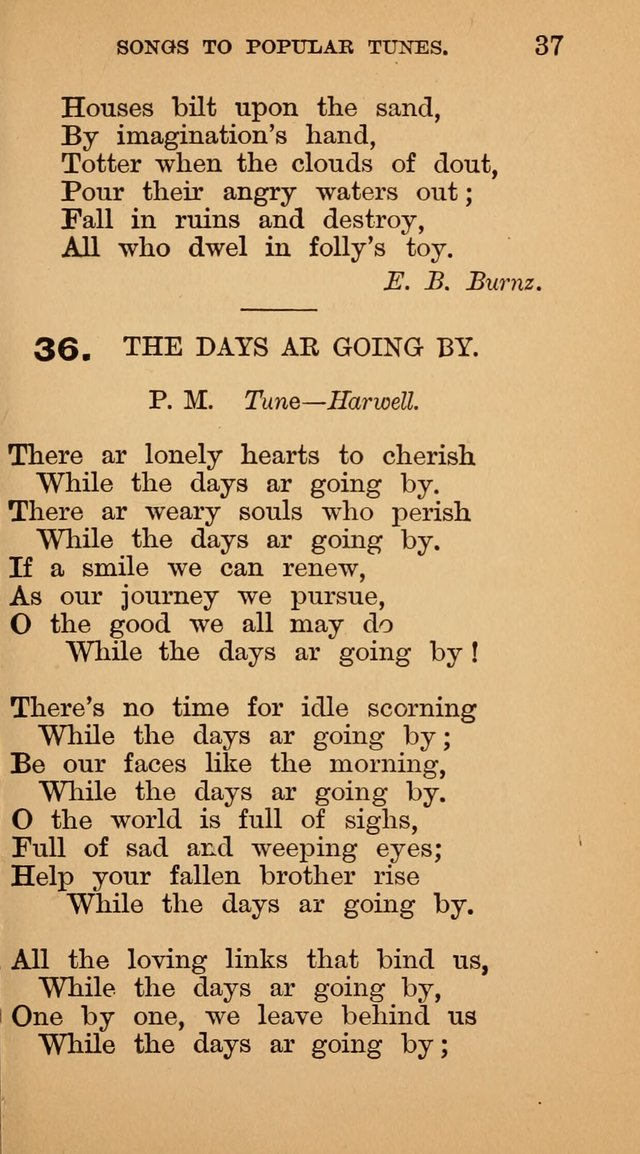 The Liberal Hymn Book: a collection of liberal songs adapted to popular tunes. For use in liberal leagues and other meetings, and in liberal homes page 37