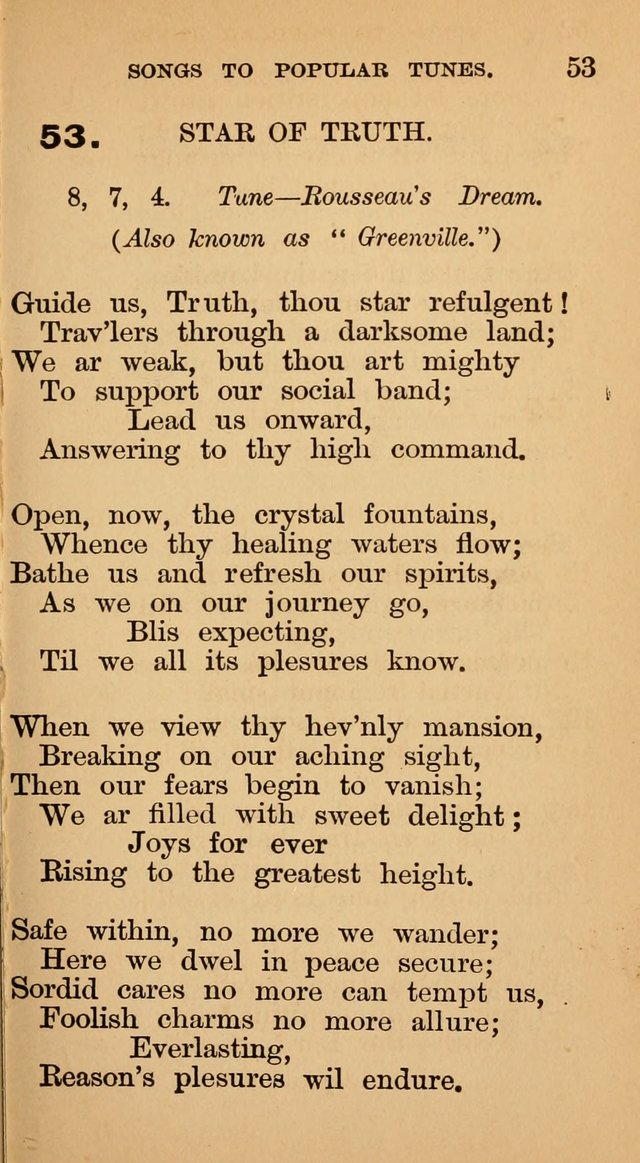 The Liberal Hymn Book: a collection of liberal songs adapted to popular tunes. For use in liberal leagues and other meetings, and in liberal homes page 57
