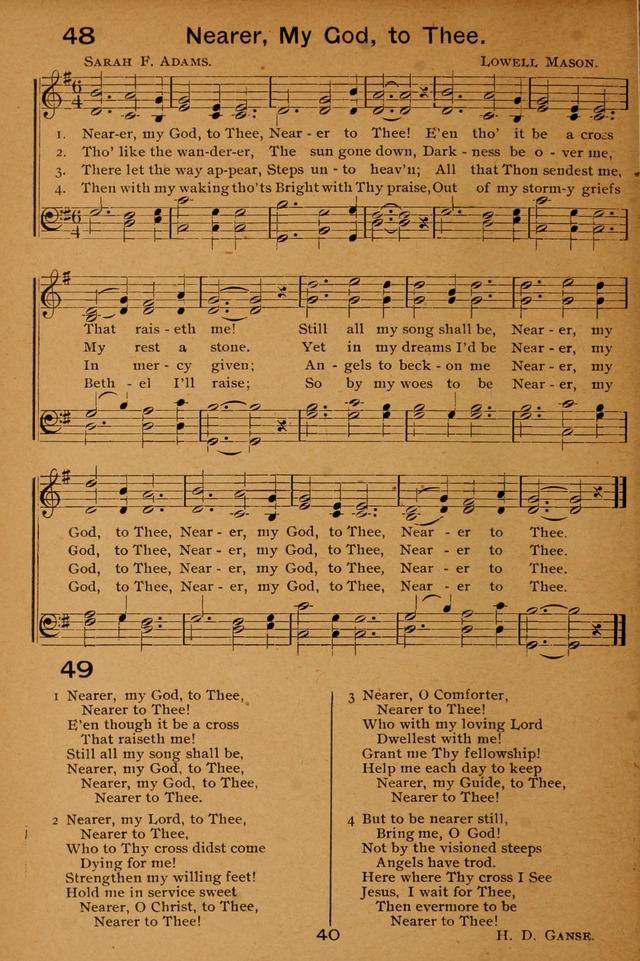 Lyric nearer my god to thee lyrics : Lutheran Hymnal for the Sunday School 49. Nearer, my God, to thee ...