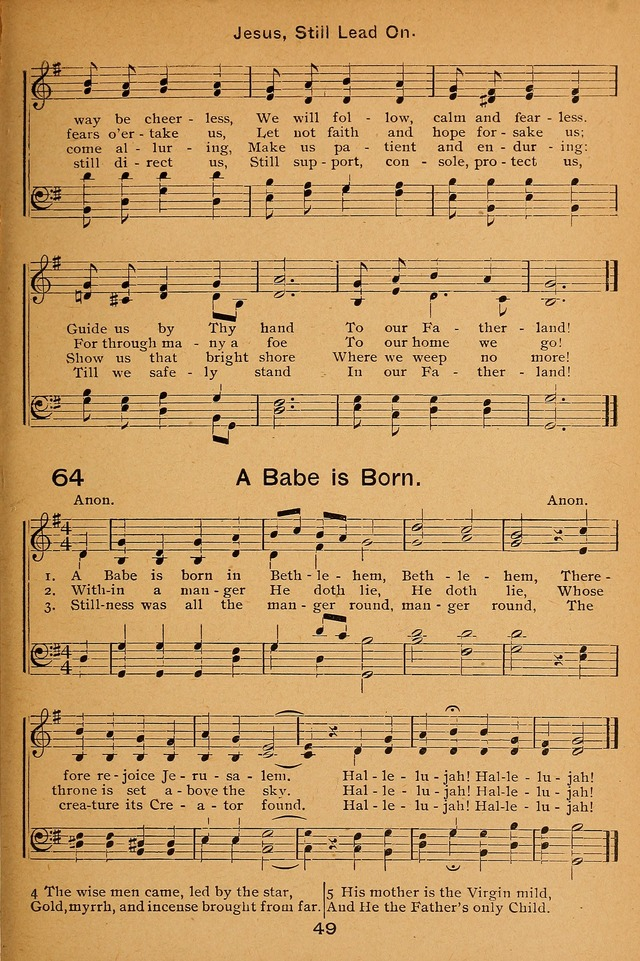 Lutheran Hymnal for the Sunday School page 49