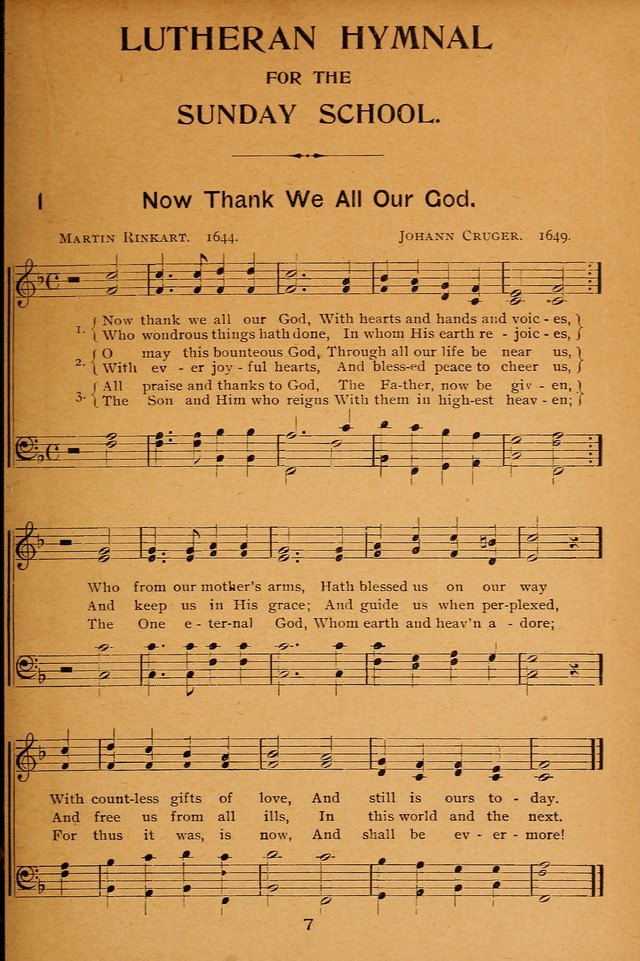 Lutheran Hymnal for the Sunday School page 7