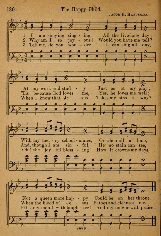 Little Sacred Songs for Little Singers of the primary department of the Sunday school, and for Kindergartens and the home page 130