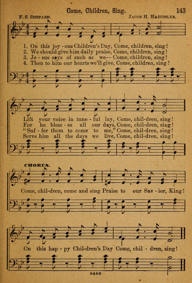 Little Sacred Songs for Little Singers of the primary department of the Sunday school, and for Kindergartens and the home page 143
