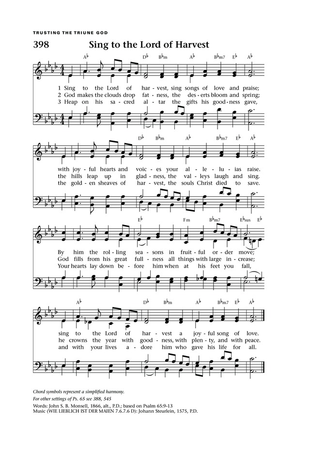 Sing to the Lord of Harvest | Hymnary.org