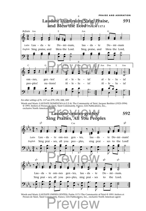 Hymns with guitar