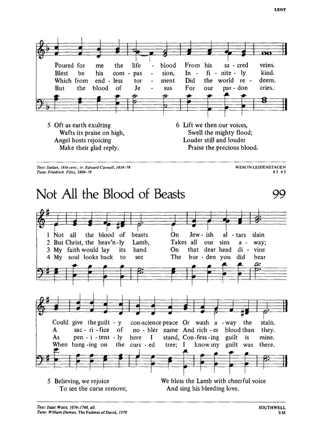 Lutheran Worship 99. Not all the blood of beasts | Hymnary.org
