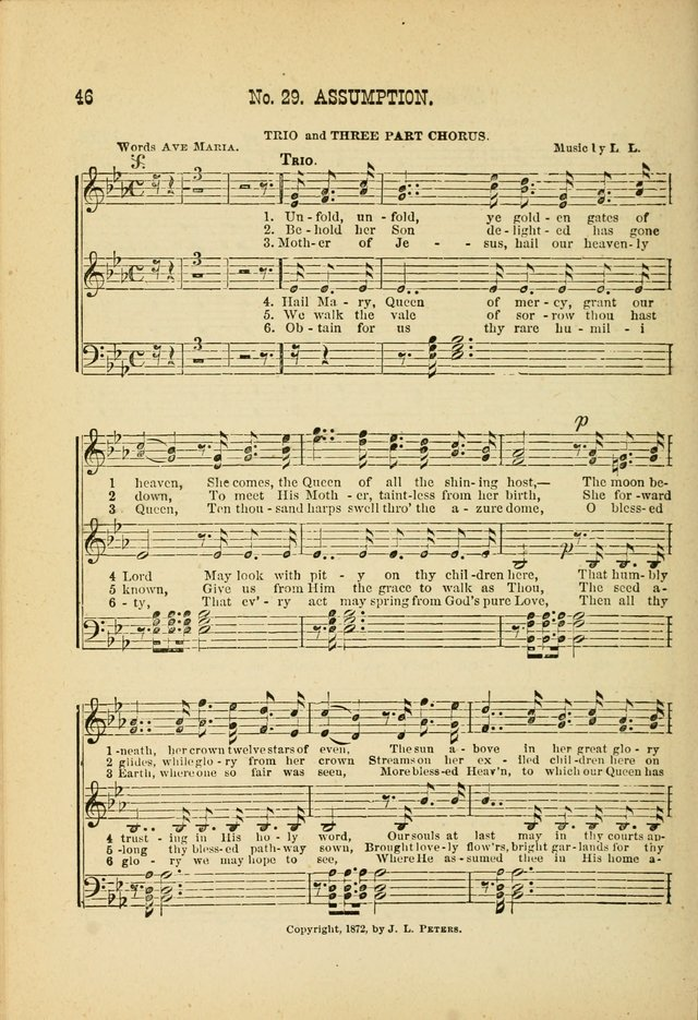 May Blossoms, a collection of hymns to the Blessed Virgin page 46