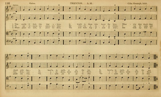 The Mozart Collection of Sacred Music: containing melodies, chorals, anthems and chants, harmonized in four parts; together with the celebrated Christus and Miserere by ZIngarelli page 116