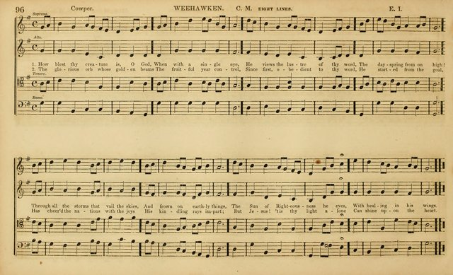 The Mozart Collection of Sacred Music: containing melodies, chorals, anthems and chants, harmonized in four parts; together with the celebrated Christus and Miserere by ZIngarelli page 96