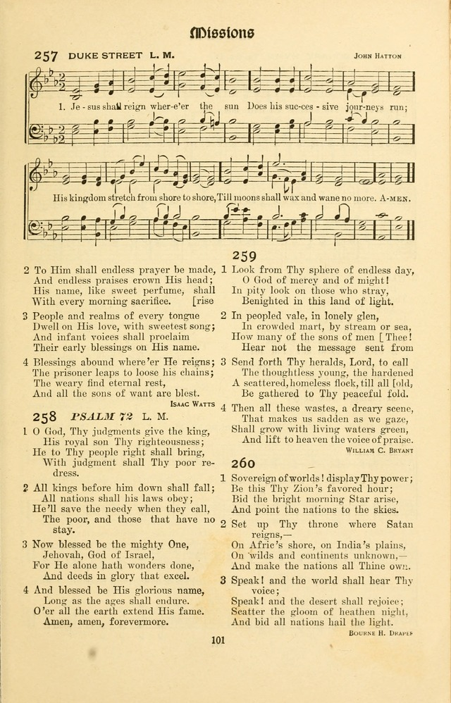 Montreat Hymns: psalms and gospel songs with responsive scripture readings page 101