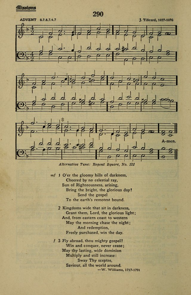 Methodist Hymn and Tune Book: official hymn book of the Methodist Church page 314