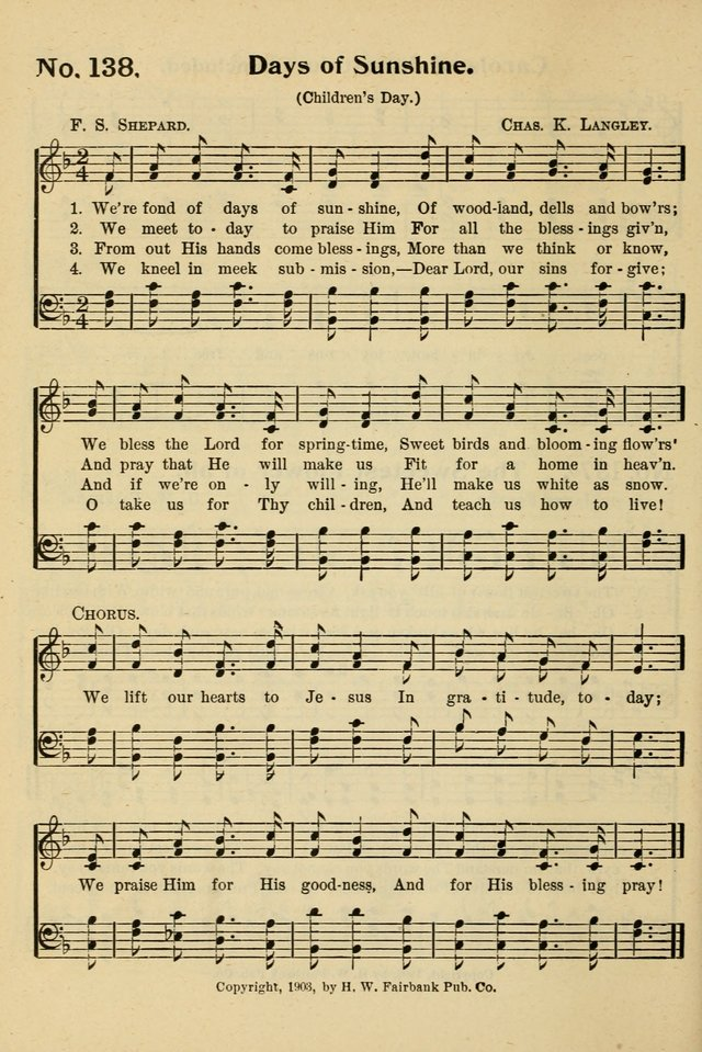 The Message in Song: for use in Sunday schools, young people