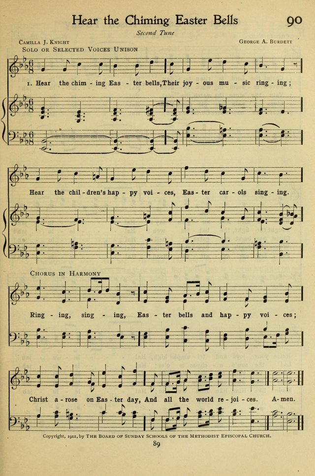 The Methodist Sunday School Hymnal page 102