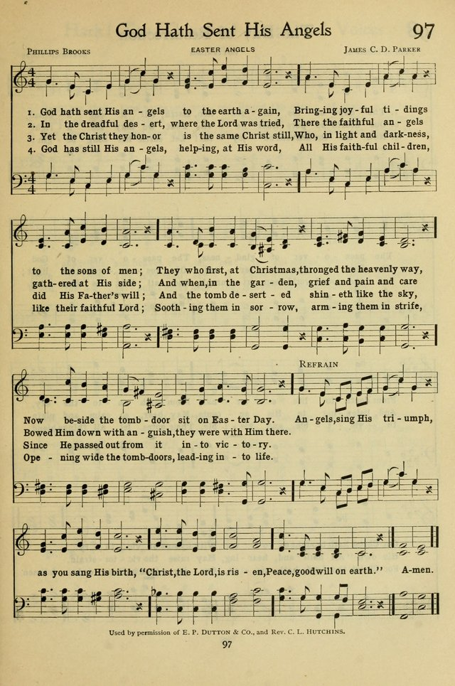 The Methodist Sunday School Hymnal page 110