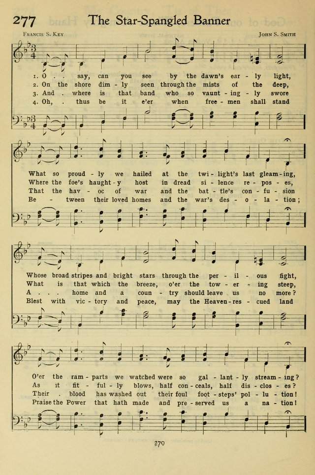 The Methodist Sunday School Hymnal 277  O say, can you see by the