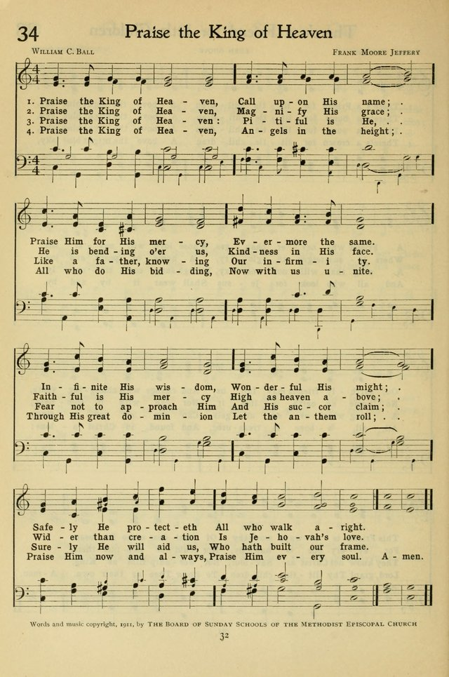 The Methodist Sunday School Hymnal page 45