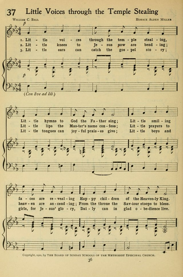 The Methodist Sunday School Hymnal page 49