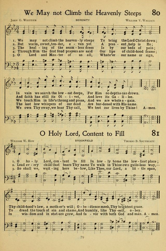 The Methodist Sunday School Hymnal page 92