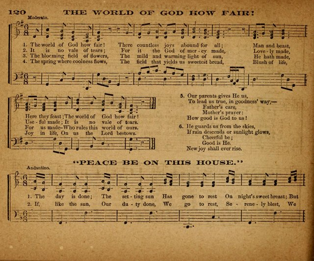 The Morning Stars Sang Together: a book of religious songs for Sunday schools and the home circle page 121