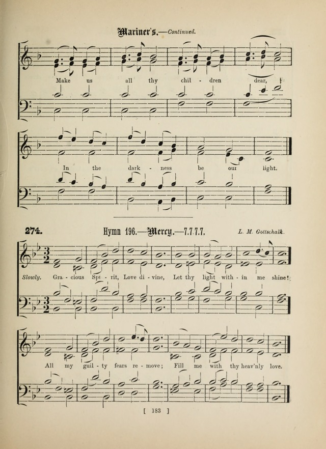 Methodist Tune Book: a collection of tunes adapted to the Methodist Hymn book page 183