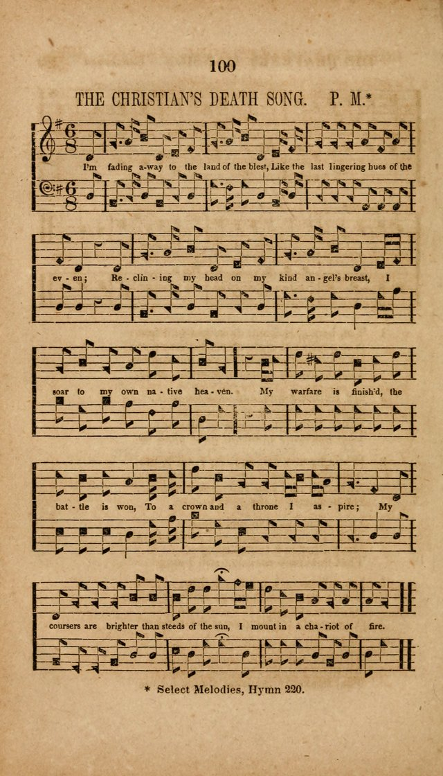 The Minstrel of Zion: a book of religious songs, accompanied with appropriate music, chiefly original page 100