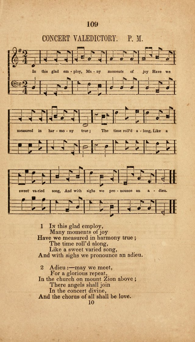 The Minstrel of Zion: a book of religious songs, accompanied with appropriate music, chiefly original page 109