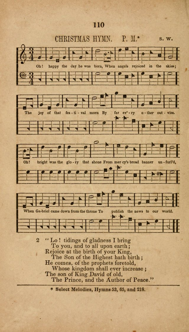 The Minstrel of Zion: a book of religious songs, accompanied with appropriate music, chiefly original page 110