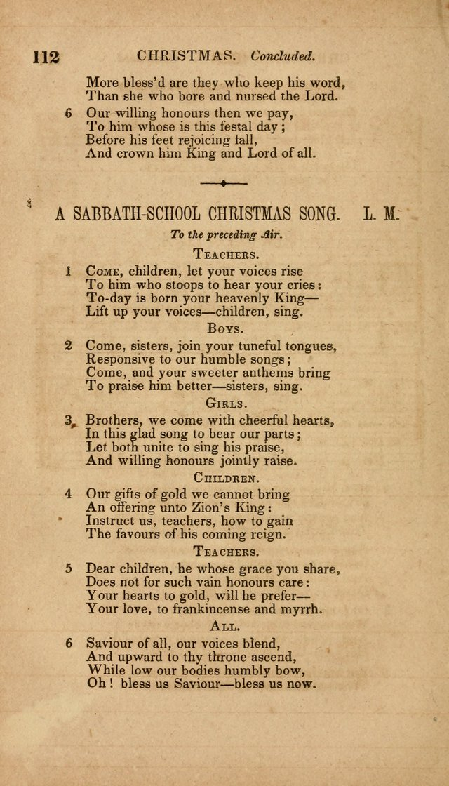 The Minstrel of Zion: a book of religious songs, accompanied with appropriate music, chiefly original page 112