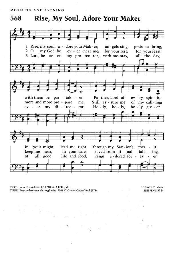Moravian Book of Worship page 596
