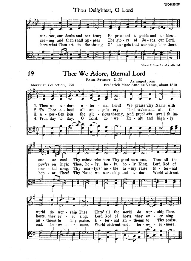 The New Christian Hymnal 18 Thou Delightest O Lord When Thy